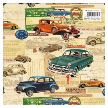 Papel coches oldies  efecto...